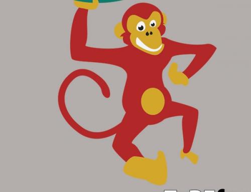 Opica – talne dekoracije
