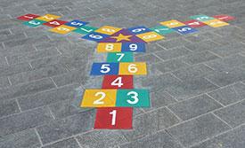 3 Hopscotch Bodenspiele aus Vorgeformte Thermoplastik