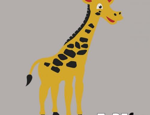Žirafa talna dekoracija